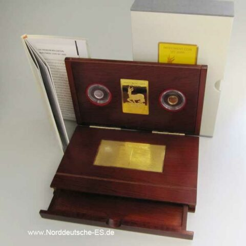 Malawi Investment Coin Set 2009 Hologramm Gold Silber