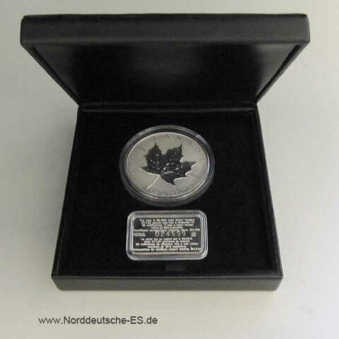 Maple Leaf 10 oz Silber-Zertifikat 1998