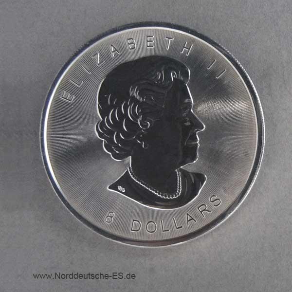 Silbermünze Bison 8 Dollars