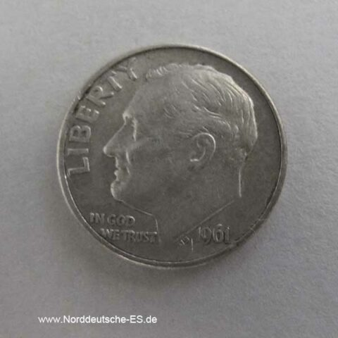 One Dime Roosevelt Silber