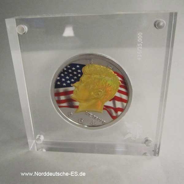 USA Presidental Investment 3 oz Silver Coin John F Kennedy