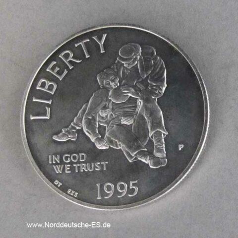 USA Silbermünze 1995 Bürgerkrieg US General Chamberlaine