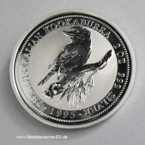2 OZ Silber Kookaburra 1995