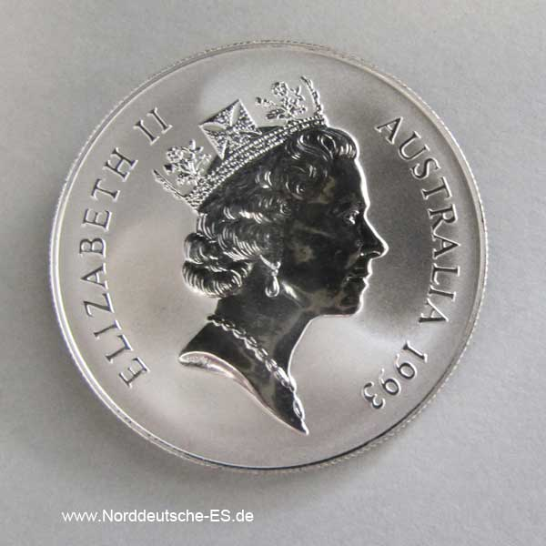 Australien Kangaroo 1 oz Silbermünze 1993