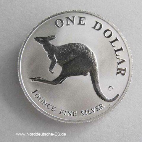 Australien Kangaroo 1 oz Silbermünze 1998