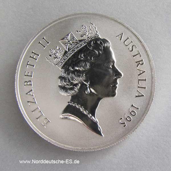 Australien Kangaroo 1 oz Silbermünze 1995