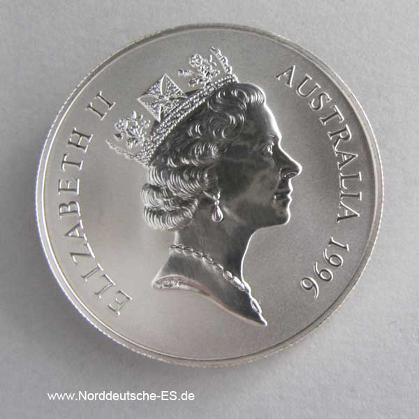 Australien Kangaroo 1 oz Silbermünze 1996