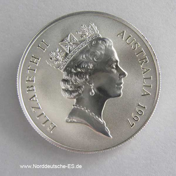 Australien Kangaroo 1 oz Silbermünze 1997