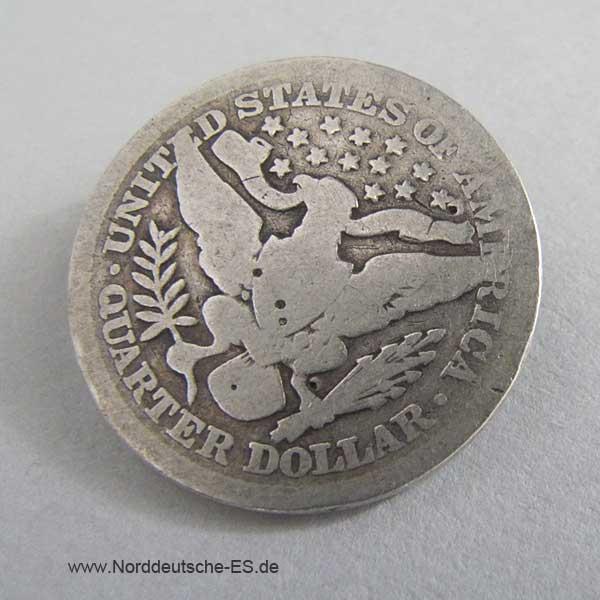 Quarter Dollar 1892–1916 Barber Quarter
