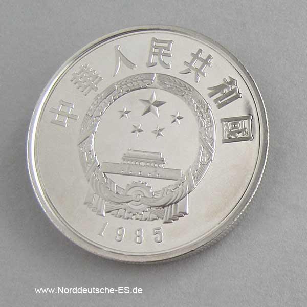 China 5 Yuan 1985 Lao Tse auf Büffel PP