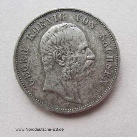 Fünf Mark Georg Sachsen 1904 E