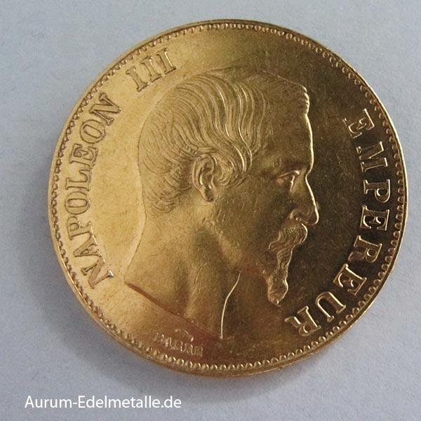 Frankreich-100-Francs-Gold-Napoleon-III-Paris-1857