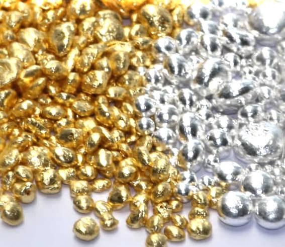Granalien Gold und Silber