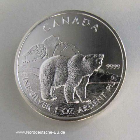 Kanada 1 oz Silber 5 Dollar 2011 Grizzlybär