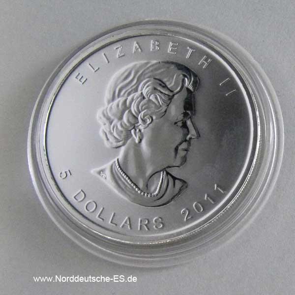 Kanada 1 oz Silber 5 Dollar 2011 Grizzly Bär