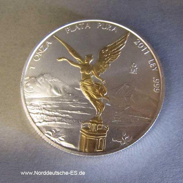 Libertad 1 oz Silber teilvergoldet