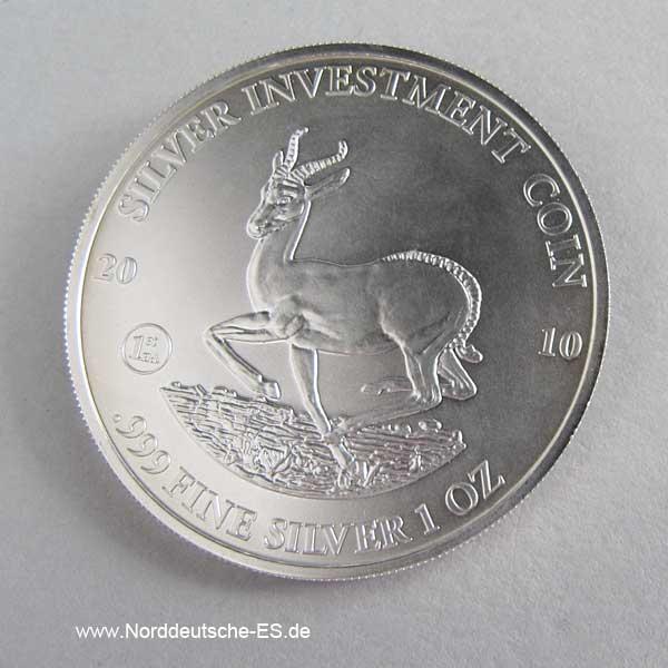 Malawi Springbock 1 oz Silber 2010