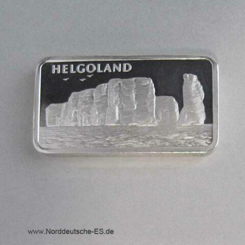 Silberbarren 1 Unze Heraeus Helgoland