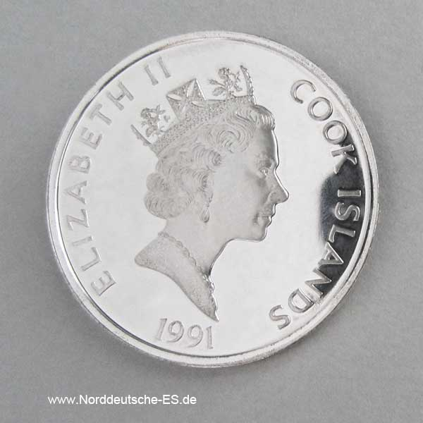 Cook Islands 50 Dollars 500 Jahre Amerika 1991