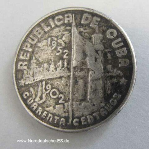 Kuba 40 Centavos 1952