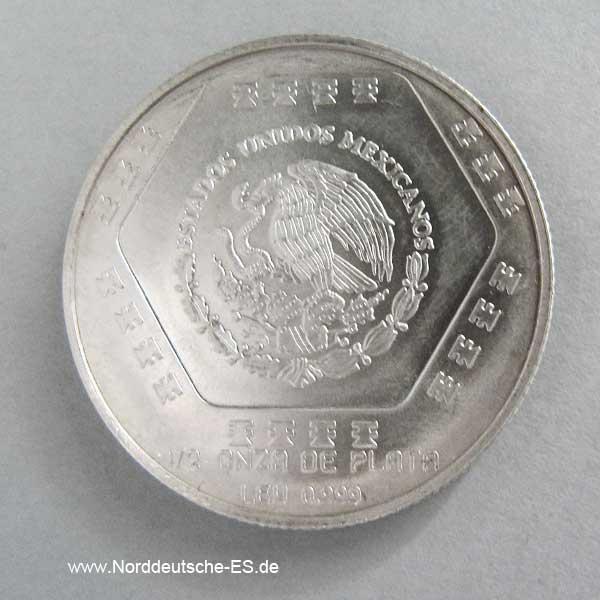 Mexiko 1_2 oz Silber Chaac-Mool