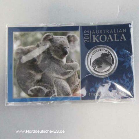 Silbermünze 1_10 oz Koala 2012