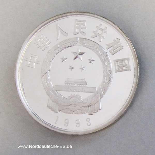 Silbermünze 5 Yuan 1993