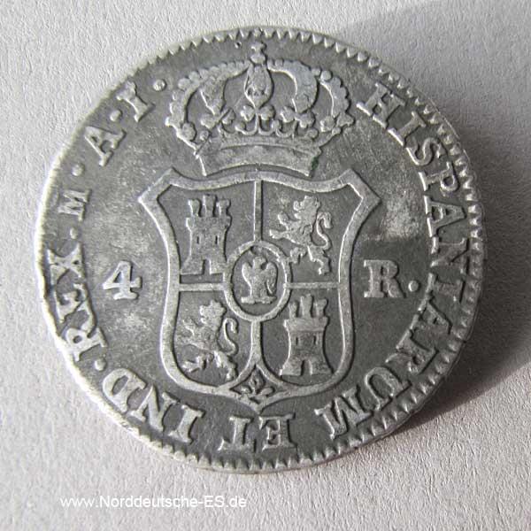 Spanien 4 Reales 1810