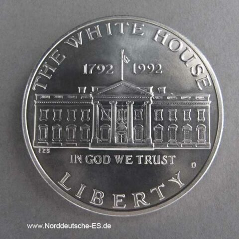 USA 1 Dollar Silbermünze 200 Jahre White House 1992
