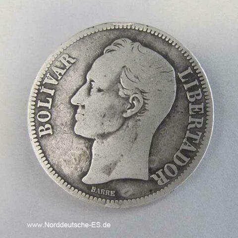 Venezuela 5 Bolivar 1921