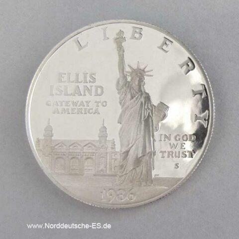 1 Dollar Ellis Island 1986 Freiheitsstatue