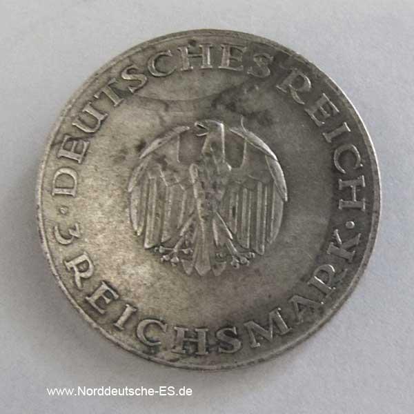 3 Reichsmark 1929 A Lessing