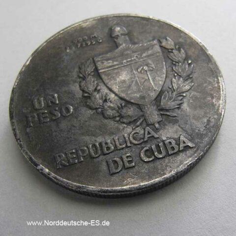 Cuba 1 Peso Silbermünze Kuba 1935 Un Peso
