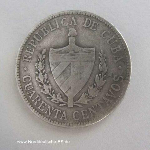 Cuba 40 Centavos 1915-1920