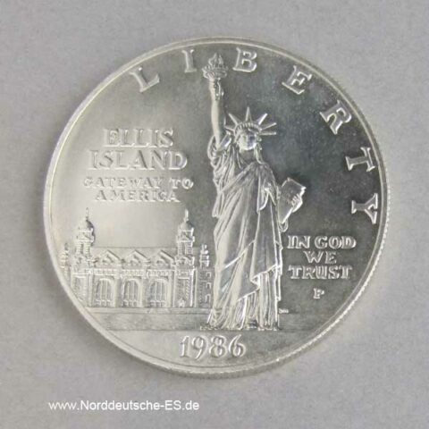 1 Dollar Ellis Island 1986 Liberty