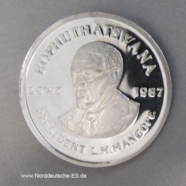1 oz Platin Bophuthatswana Lowe 1987