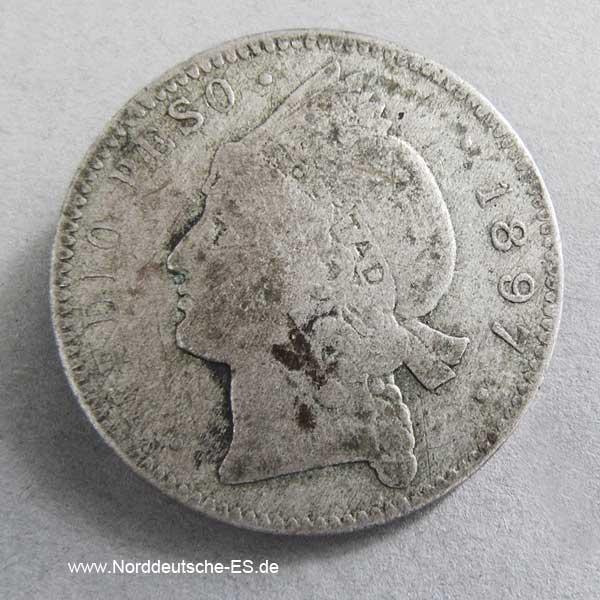 Dominikanische Republik Medio Peso 1897