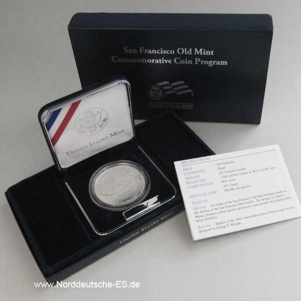 USA 1 Dollar Silbermünze 2006 Old Mint The Granit Lady