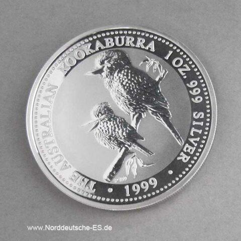 1 oz Kookaburra 1999 Silbermünze