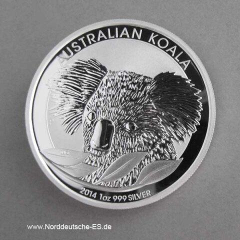 1 oz Koala Silbermünze 2014