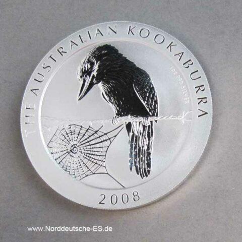 Australien Kookaburra 1 oz Silber 1 Dollar 2008