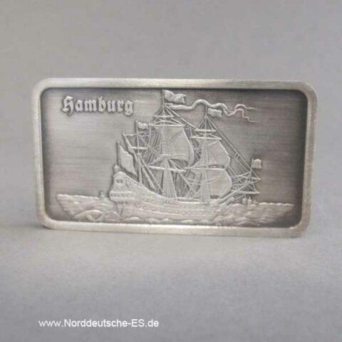 Silberbarren 1 Unze Les Graveurs Segelschiff Hamburg