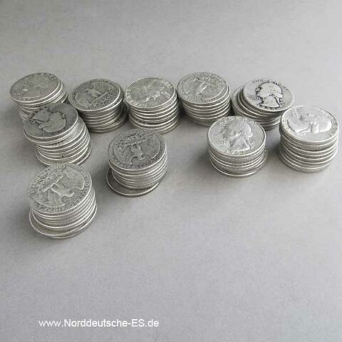 100 x USA Quarter Dollar