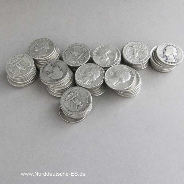 100 x USA Quarter Dollar