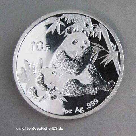 China Panda 1 oz Silber 2007