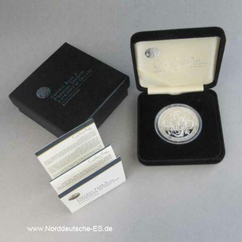Irland 10 Euro Silbermünze 2007 Gedenkmünze Zertifikat OVP
