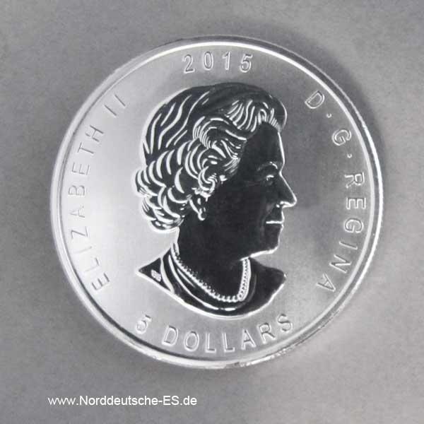 Kanada 1 oz Silbermünze Eule 2015