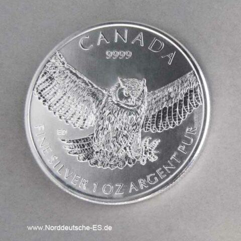 Kanada 1 oz Silbermünze Uhu 2015