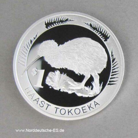 NeuSeeland 1 oz Kiwi Vogel Silber in Box mit Zertifikat 2008