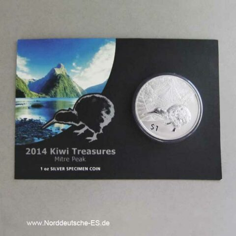 New Zealand 1 oz Kiwi Treasures 2014